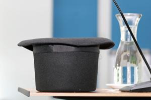 Black tall hat